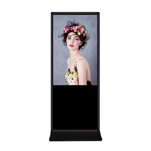 "SYET 43"" inch alone Floor standing Indoor Android digital signage Touch screen lcd kiosk advertising display with WIFI"