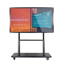 SYET 55 inch IPS capacitive IR multi touch screen frame smart TV for Conference