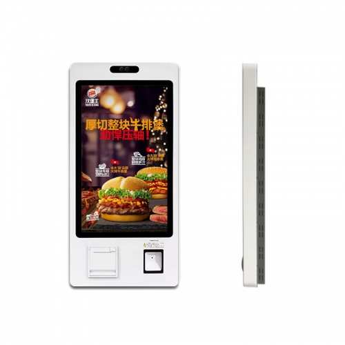 "SYET 32"" Capacitive Touch Self Order Kiosks Restaurants Self Service Kiosk Fast Food With Printer"