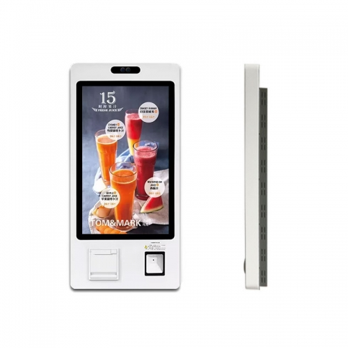 "SYET 21.5"" Capacitive Touch Self Order Kiosks Restaurants Self Service Kiosk Fast Food With Printer"