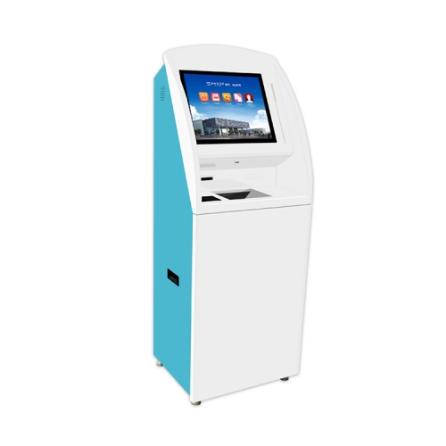 customized free standing self-service visa card reader/Touch kiosk terminal with A4 laser printer