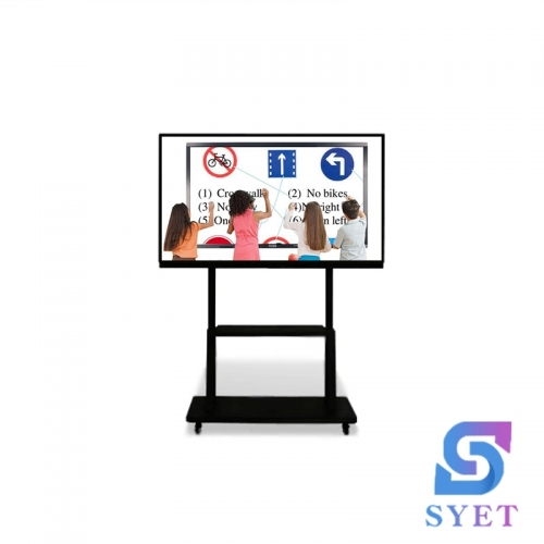 SYET 65 Inch Inch Ultra HD 4K Portable wireless LED Interactive Touch Screen Monitor LCD Smart Board TV With PC All In One