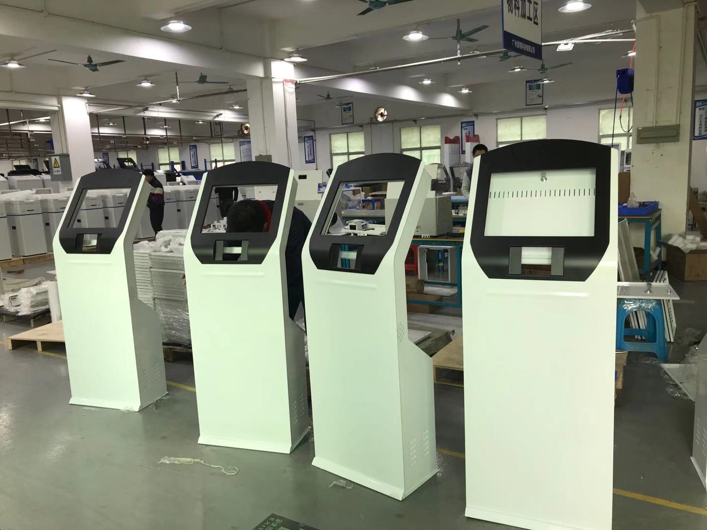 Sample of 4 pcs queuing machines ready to ship