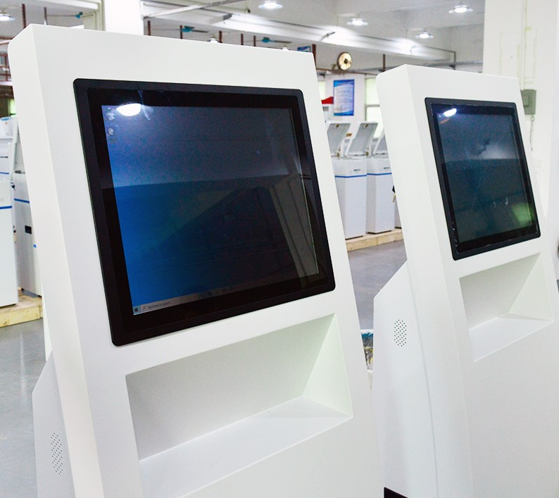 Samples of 3 pcs self-service kiosks for Singapore customers